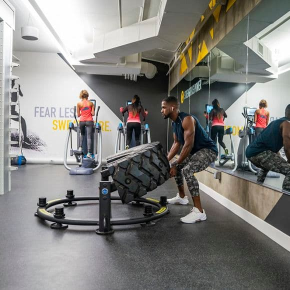 Lifestyle photography of  the KINETIC fitness center located at The Launch in Irvine, CA