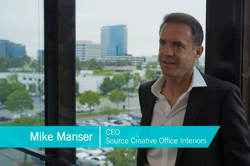 Video testimonial preview for The Launch featuring Mike Manser, CEO of Source Creative Office Interiors located in Irvine, CA.