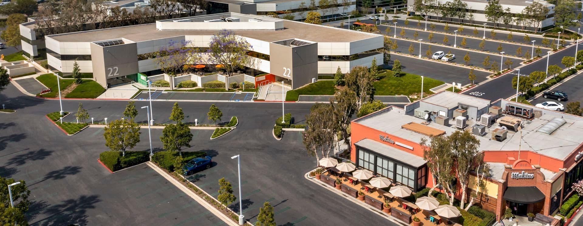 Exterior photography of Venture Park, in Irvine, CA.