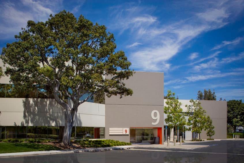 Exterior photography of 9 Executive Circle at Venture Park, Irvine, CA.