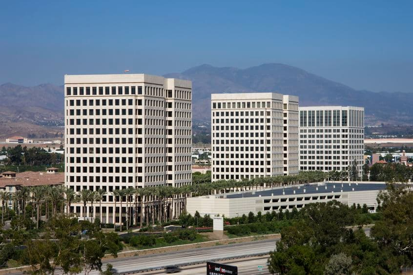 Exterior views of 20-40 Pacifica Office Towers and surroundings. Moore - RMA Architectural Photographers 2008..