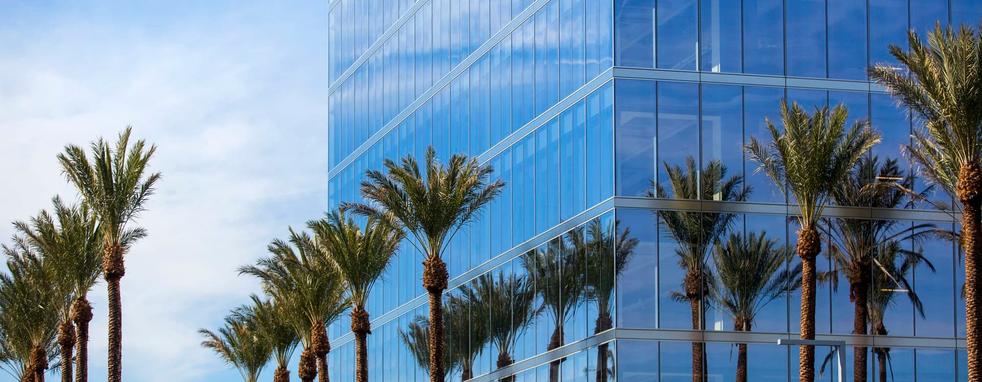 Exterior views of 200 Spectrum Center office building in Irvine Spectrum. Lamb 2016.
