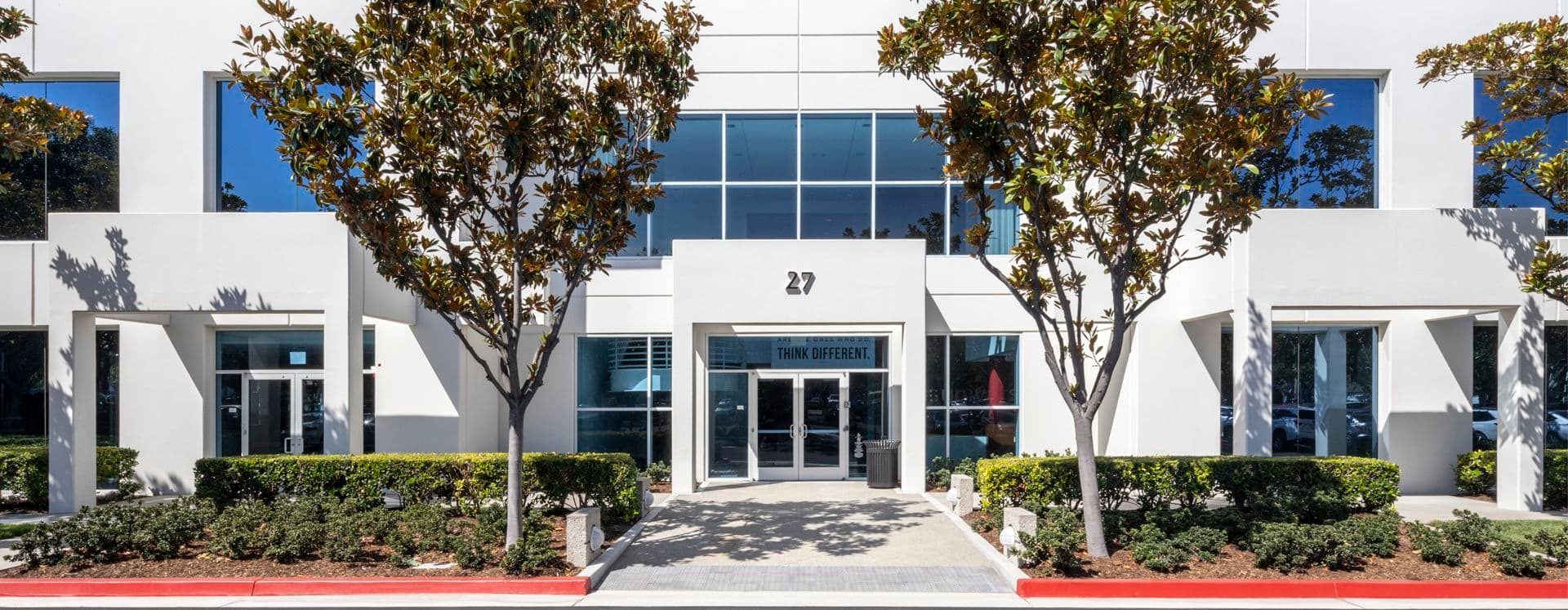 Building hero photography of 27 Technology in Irvine, CA