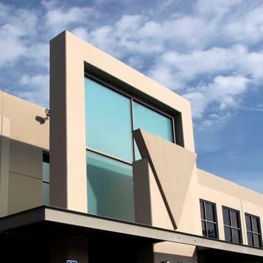 Exterior views of 9 Pasteur office building in Irvine Spectrum 4. Kawashima 2007.