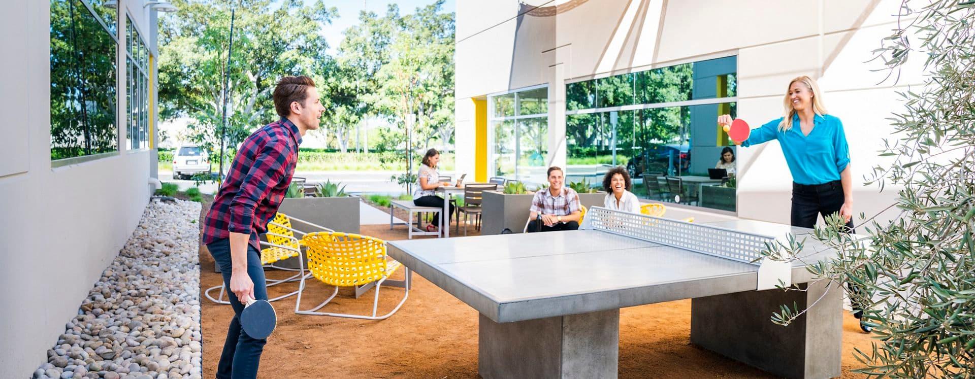 Lifestyle photography of Alton Plaza in Irvine, CA