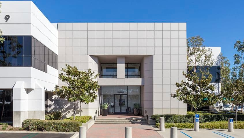 Exterior building photography for Bake Technology Park at 9 Parker, Irvine, CA