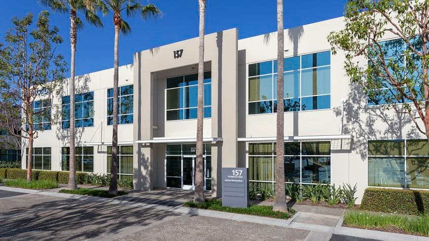 Exterior building photography of 15 Technology entry at Corporate Business Center in Irvine, CA