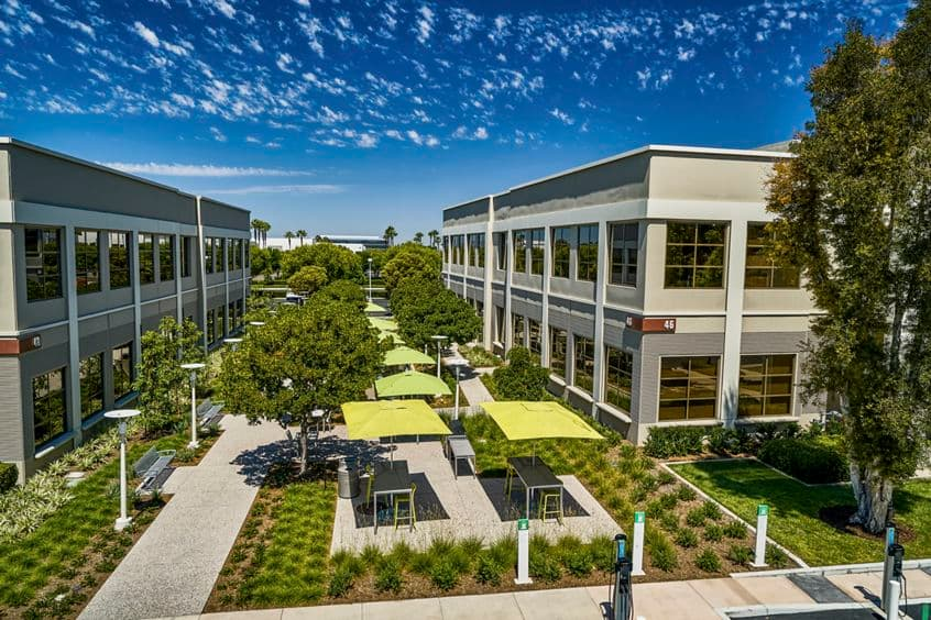 Drone image of The Commons at 46-48 Discovery in Irvine, CA