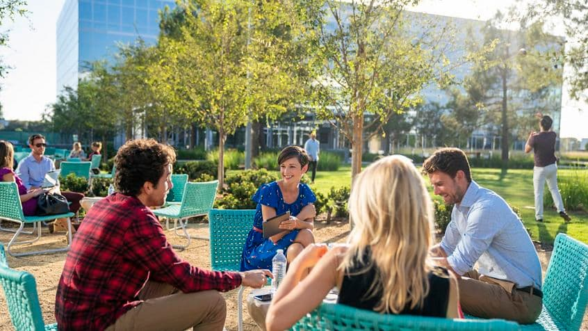 Lifestyle photography of The Commons - The Quad at Discovery Park in Irvine, CA
