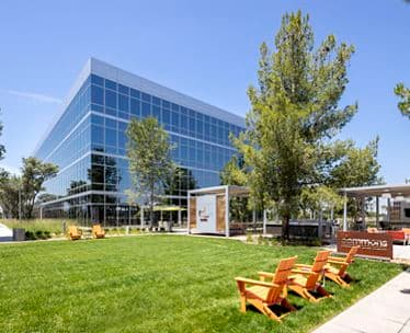Photography of The Commons outdoor workspace between 525 and 505 Technology Drive at Discovery Park in Irvine, CA