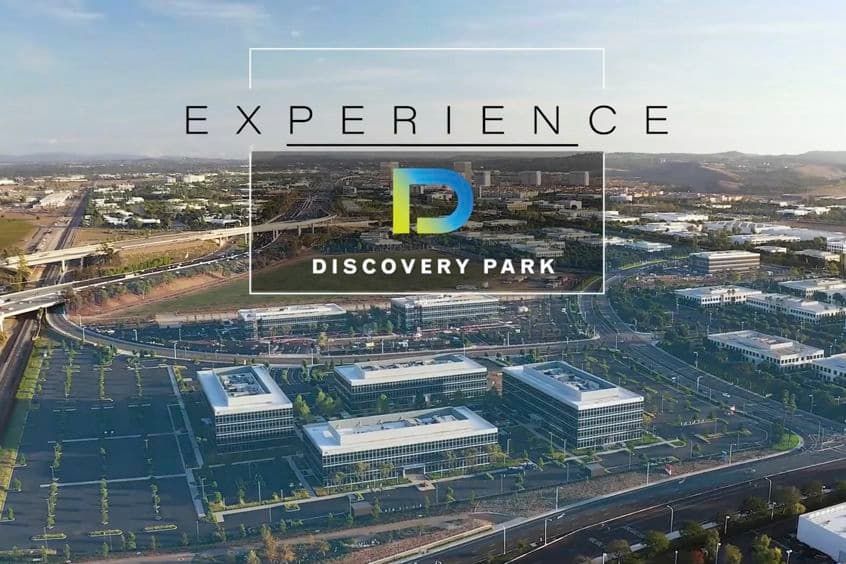 Preview image for the video showcasing the experience of officing at Discovery Park in Irvine, CA