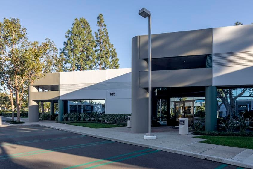 Exterior view of 185 Technology Drive in Irvine, CA.