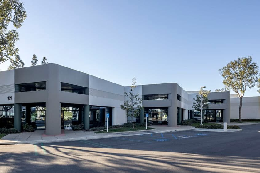 Exterior view of 199 Technology Drive in Irvine, CA.