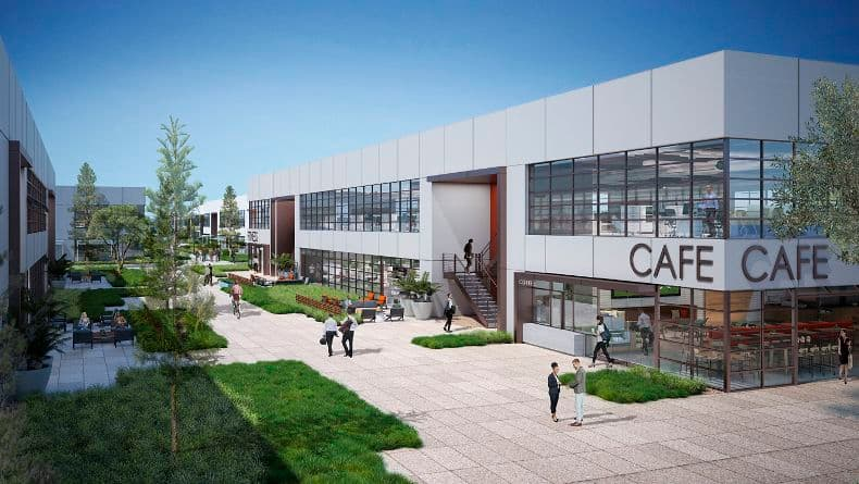 Image renderings of Innovation Office at Spectrum in Irvine, CA