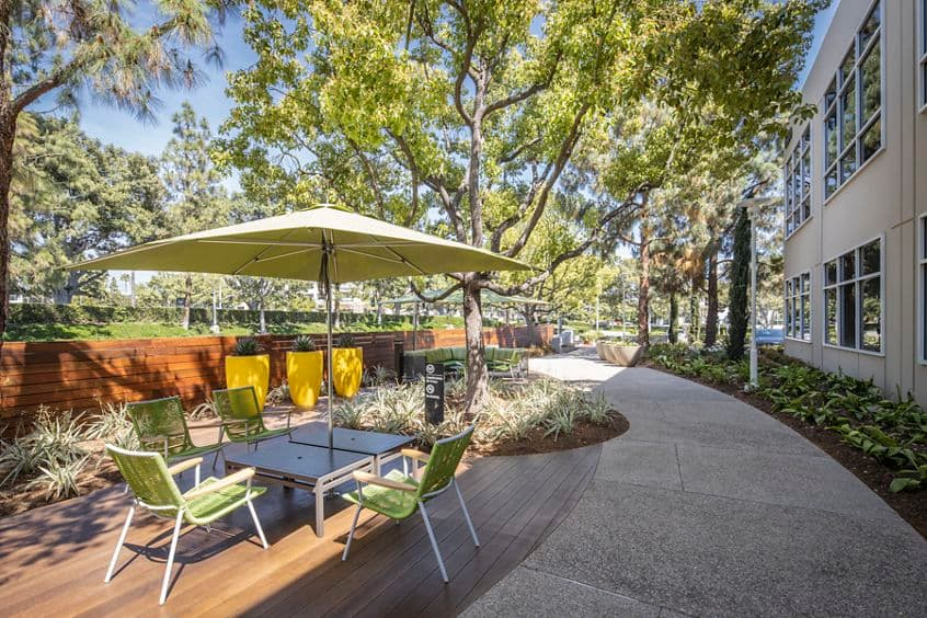 Photography of The Commons outdoor workspace near Lakeview Business Center - 15300 Barranca Parkway in Irvine, CA