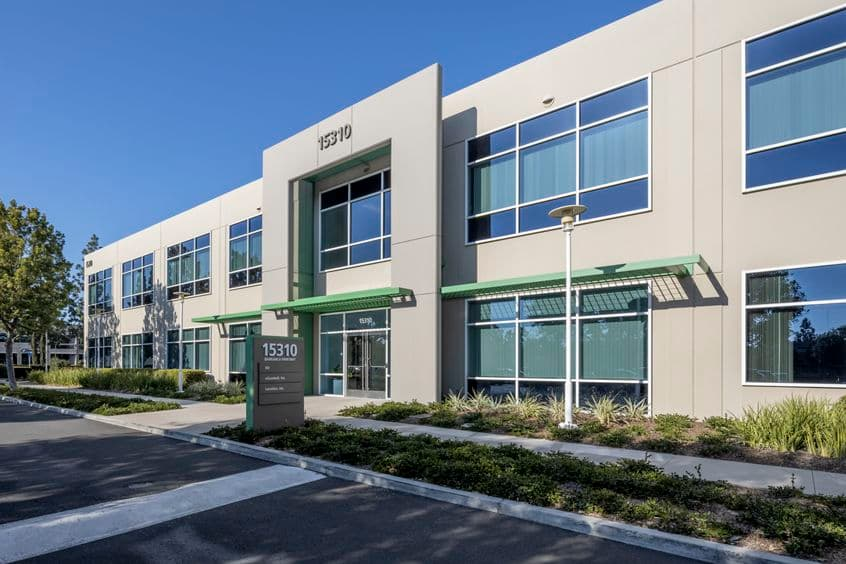 Exterior view of 15310 Barranca Parkway at Lakeview Business Center in Irvine, CA.