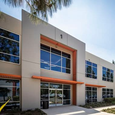 Exterior building photography of Lakeview Business Center - 1 Ada Parkway in Irvine, CA