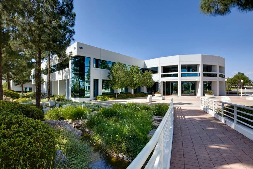 Exterior views of 56 Technology Drive office building at Lakeview Business Center in Irvine Spectrum 3. RMA Photography 2012.