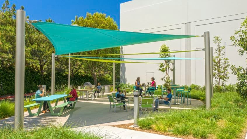 Lifestyle photography of the outdoor workspace near Oak Canyon Business Center - 6001 Oak Canyon in Irvine, CA