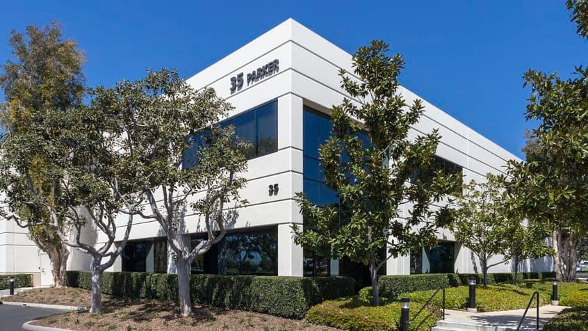 Exterior building photography for Parker Technology Center at 35 Parker, Irvine, CA