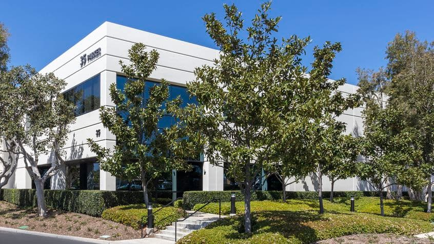 Exterior building photography for Parker Technology Center at 35 Parker, Irvine, CA