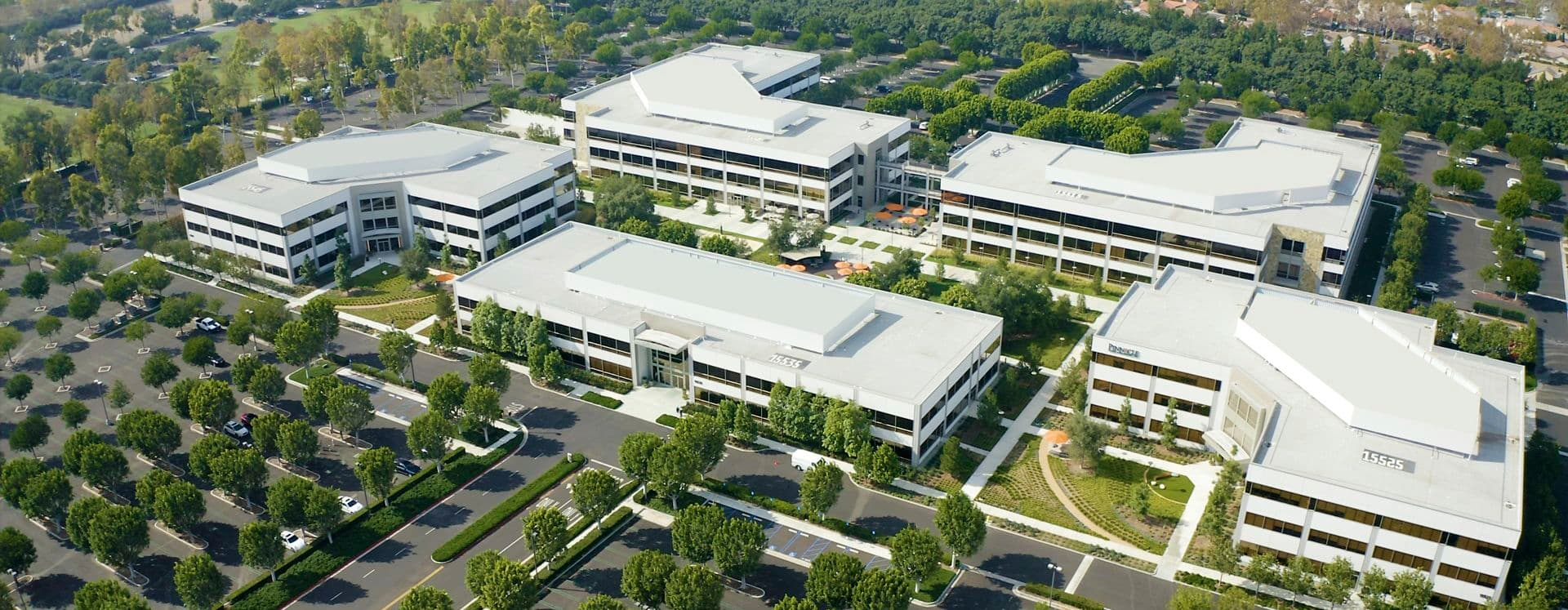 Aerial of Sand Canyon Business Center in Irvine, CA.