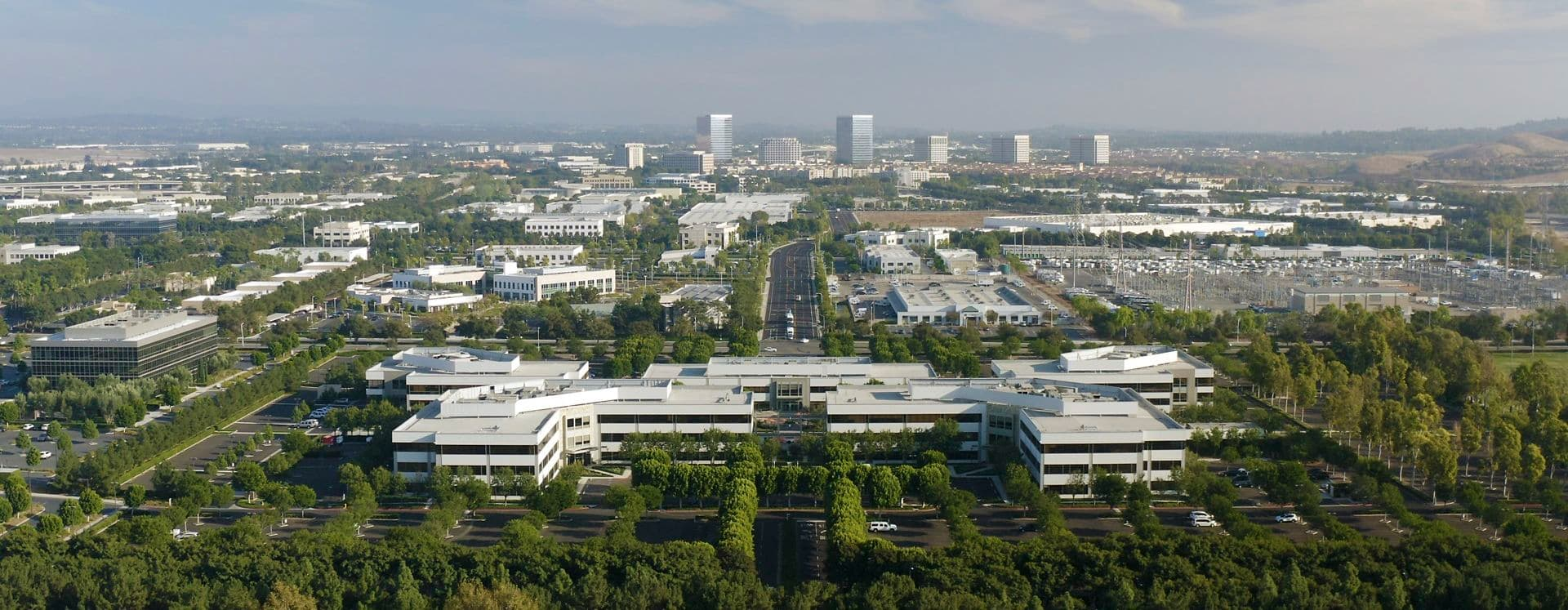 Aerial view of Sand Canyon Business Center in Irvine, CA.