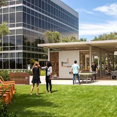 Lifestyle images of the Commons at Sand Canyon Business Center, NextGen Campus Office, Irvine, Ca