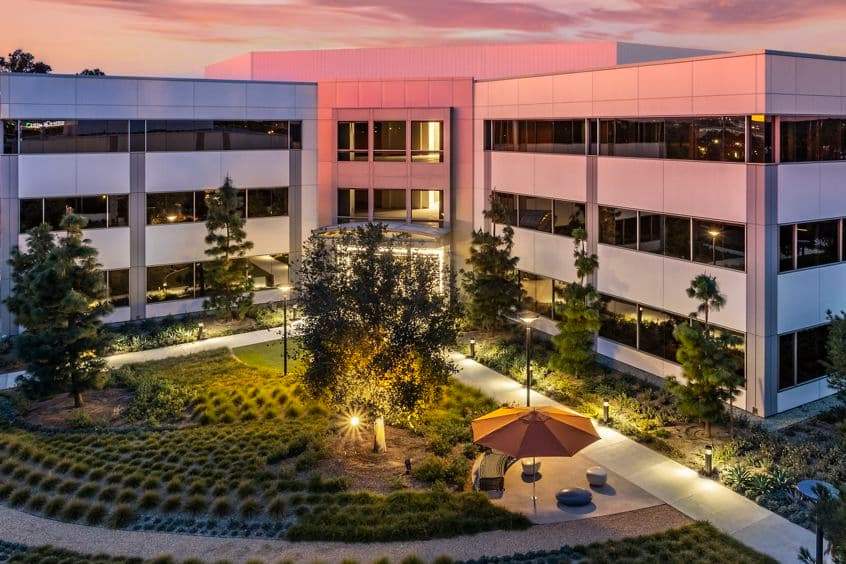 Aerial view of 15545 Sand Canyon Avenue at Sand Canyon Business Center in Irvine, CA.