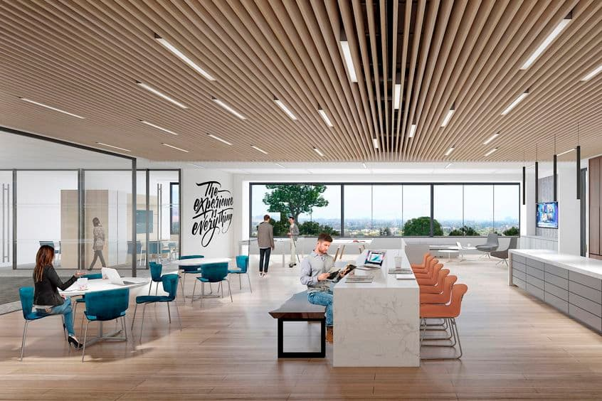 Interior renderings of Sand Canyon Business Center in Irvine, CA