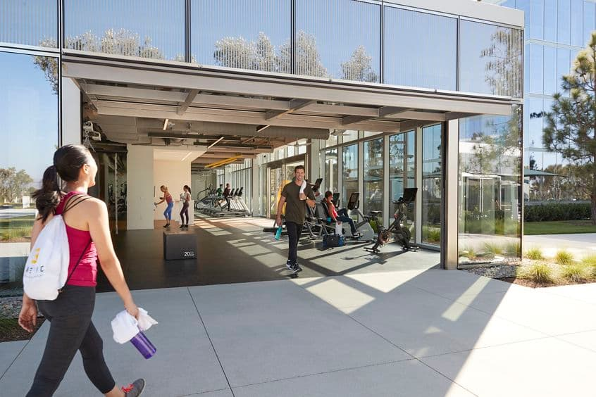 Lifestyle photography of Kinetic fitness center at Spectrum Terrace, Irvine, Ca