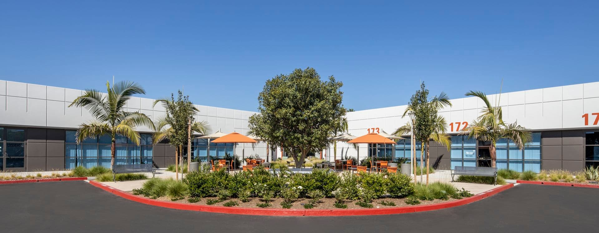 Exterior view of 16 Technology at Technology Link in Irvine, CA.