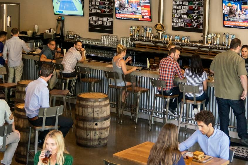 Lifestyle photography at Left Coast Brewing Co. in Irvine, CA