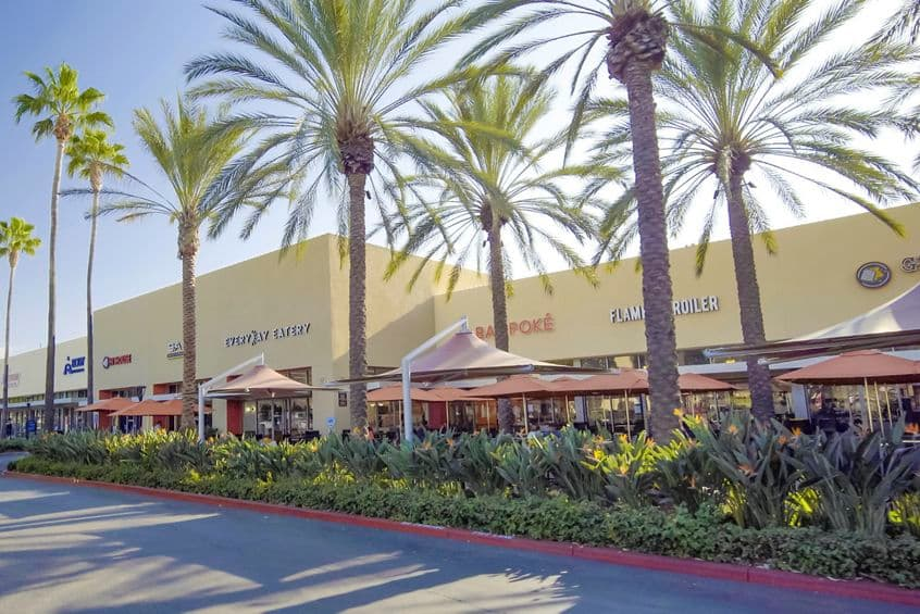 Exterior view of amenities near Sand Canyon Business Center in Irvine, CA.