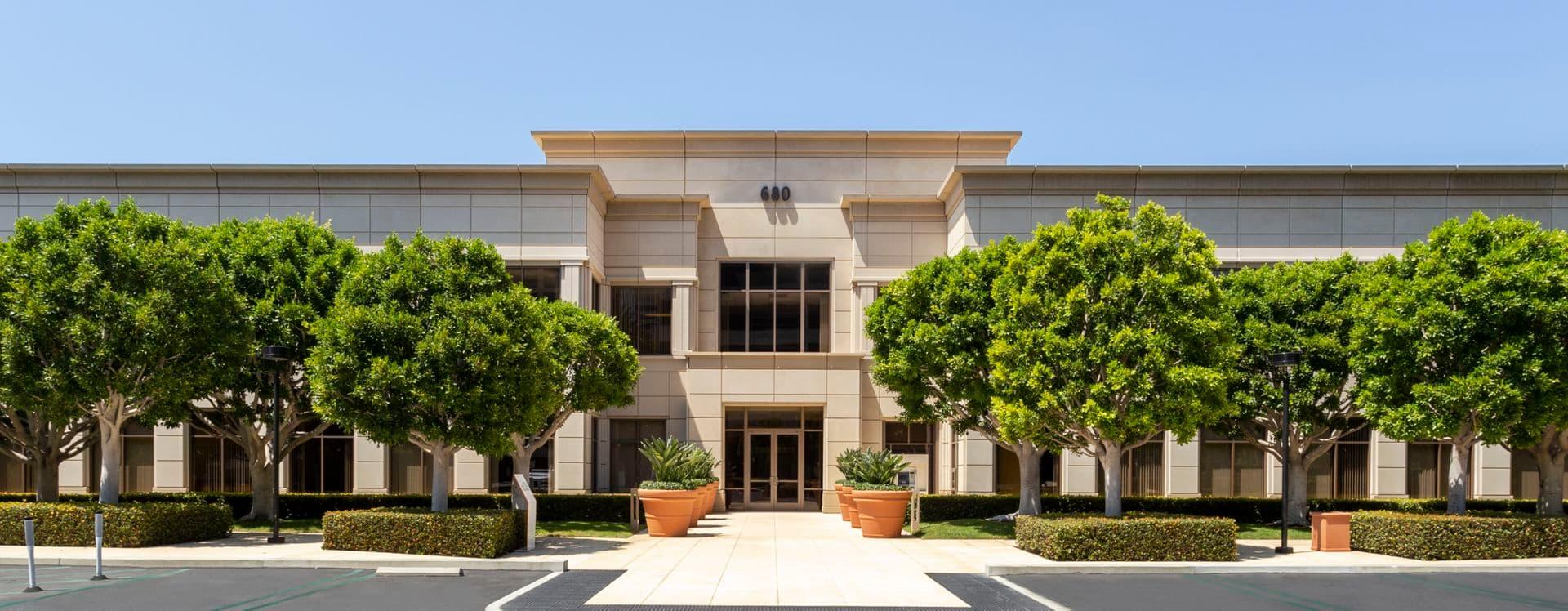 Exterior building photography of 680 Newport Center Drive, Newport Beach, CA