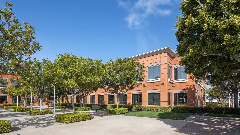 Exterior view of Corporate Plaza in Newport Beach, CA.