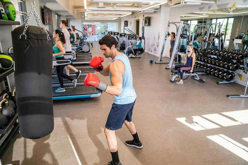 Lifestyle photography of the KINETIC fitness center at UCI Research Park - 5301 California Ave in Irvine, CA
