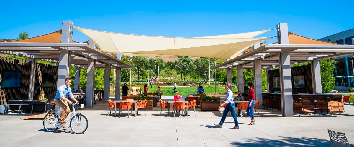 Lifestyle photography of The Commons at UCI Research Park in Irvine, CA