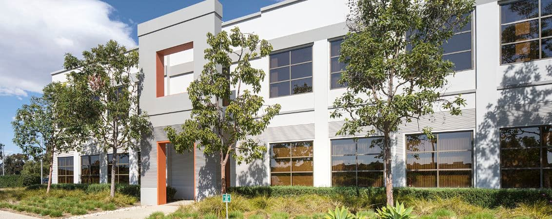 Architectural photography of building at UCI Research Park