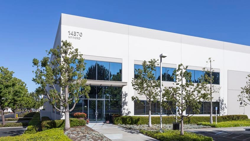 Building photography of 14370 Myford Road at Jamboree Business Park, Irvine, Ca