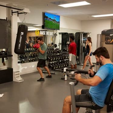 Photography of the KINETIC fitness center at Market Place Center in Irvine, CA