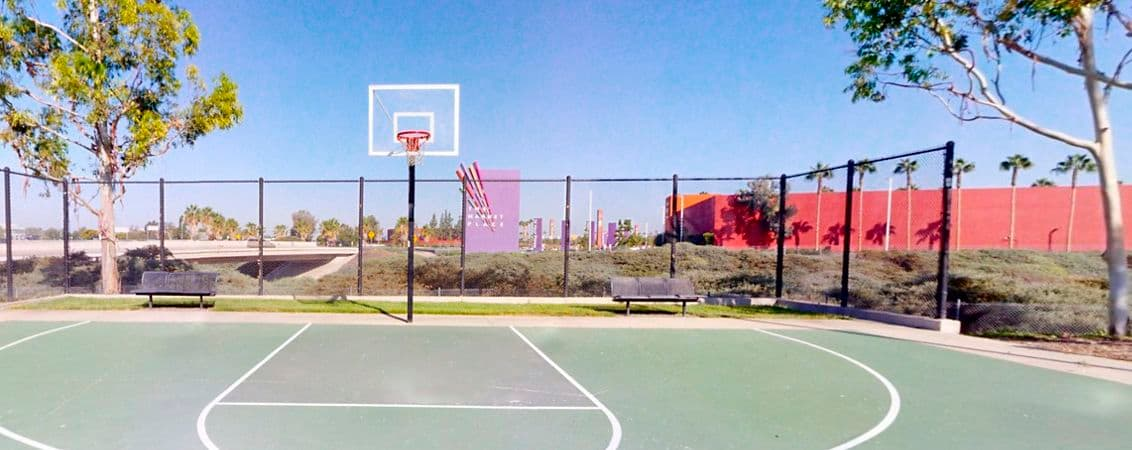 Outdoor photography for the Basketball Court at 3210 El Camino at Marketplace Center in Irvine, CA.