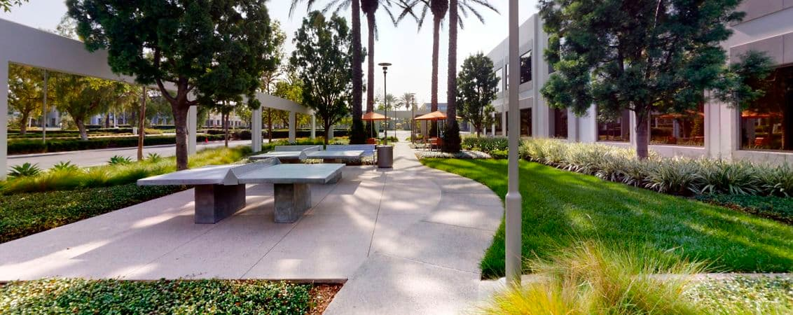 Exterior photography of Outdoor Workspac330 Commerce at Market Place Center, Irvine CA.