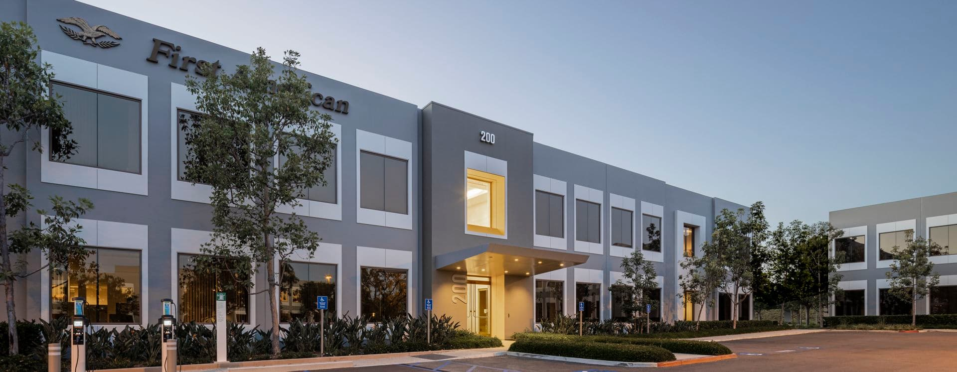 Exterior view of 200 Commerce at Market Place Center in Irvine, CA.