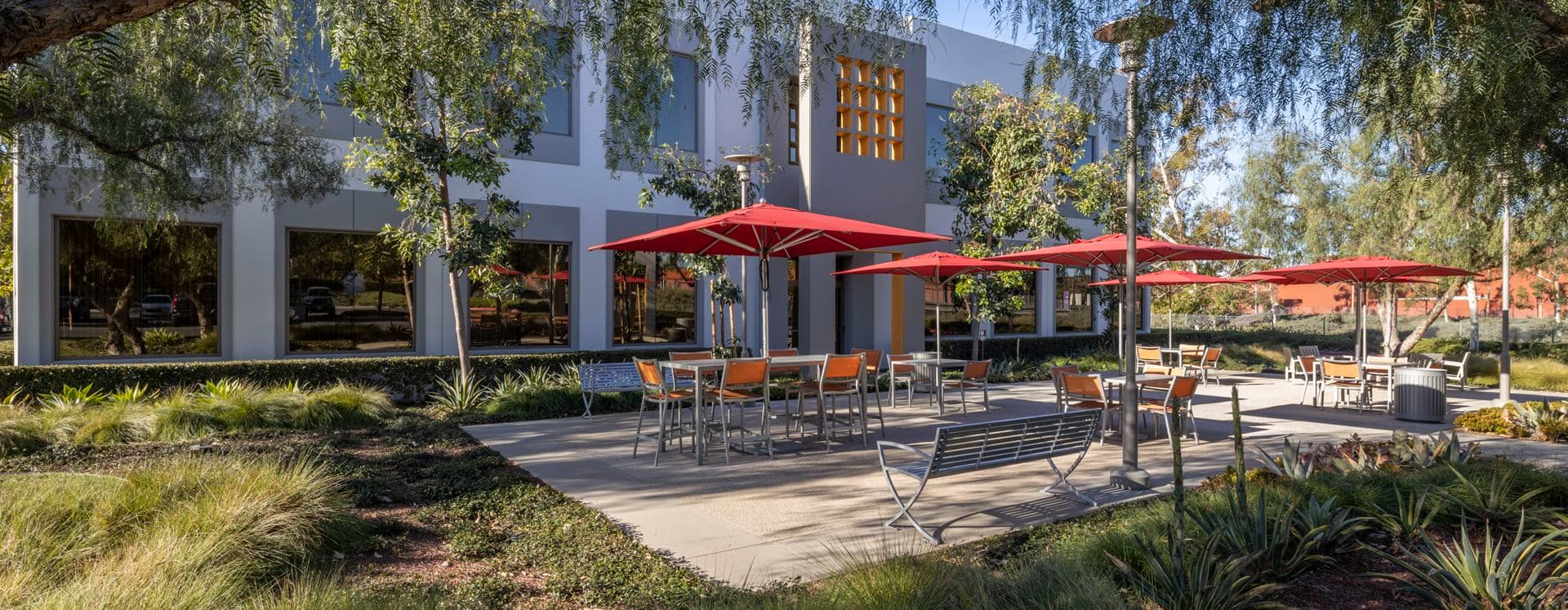 Exterior view of 3200 El Camino Real at Market Place Center in Irvine, CA.