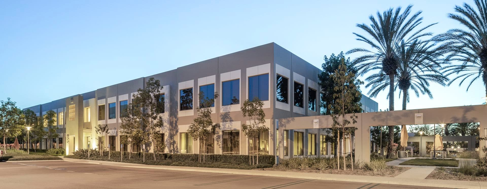 Exterior view of 450 Exchange at Market Place Center in Irvine, CA.