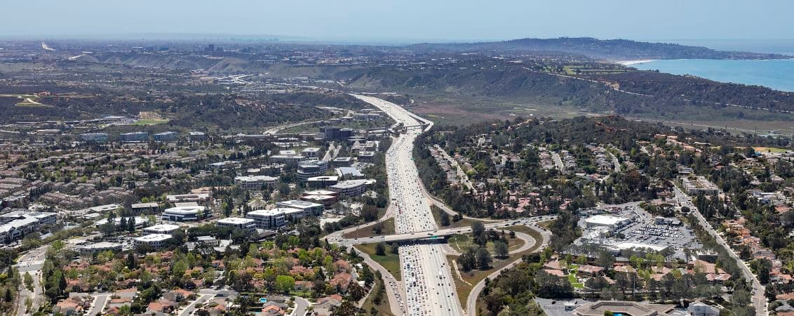 Aerial photography of Del Mar Heights, San Diego, CA