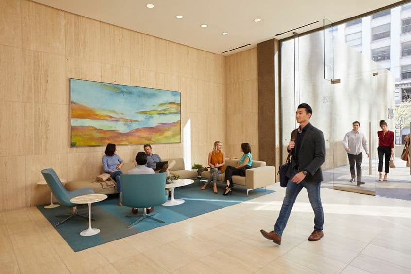 Interior view of lobby at 225 Broadway San Diego, CA.