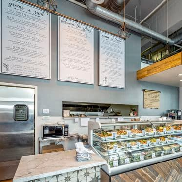 Photography of Wild Thyme dining restaurant at Columbia Garage, 555 West C Street, San Diego, Ca 92101