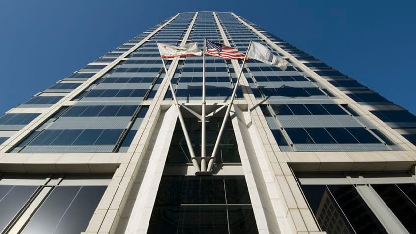 Views of One America Plaza - 600 West Broadway.